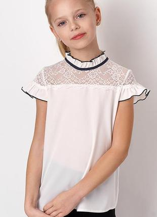 Нарядная блуза для девочки 6-11 лет