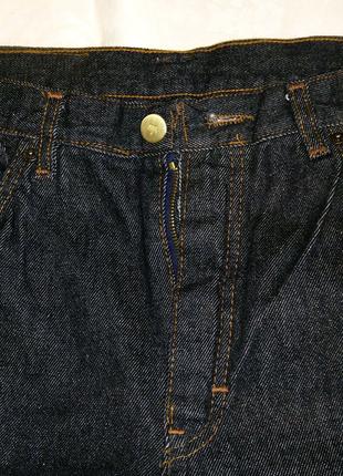 Брюки джинсы мужские чёрные размер 54 XL W