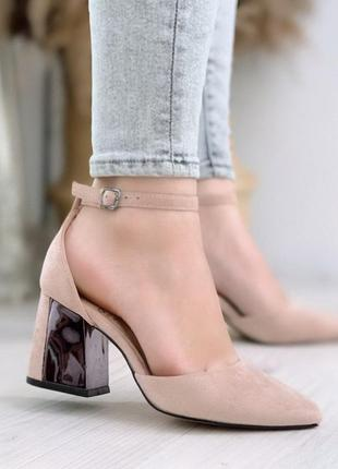 Туфельки лодочки цвета пудры