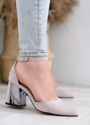Серые туфельки лодочки