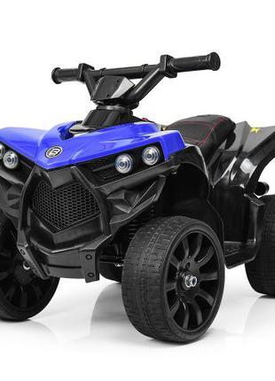 Детский квадроцикл M 3638 EL-4, кожаное сиденье, синий