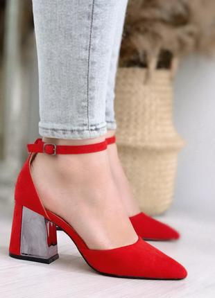 Красные туфельки лодочки