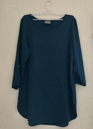 Блуза из вискозы vero moda / s / изумрудного цвета