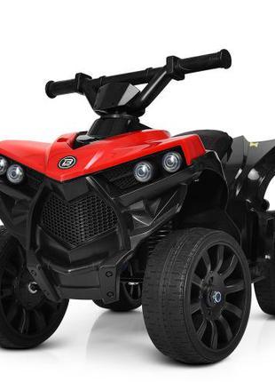 Детский квадроцикл M 3638 EL-3, кожаное сиденье, красный