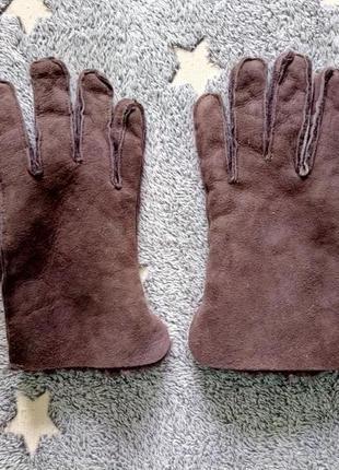Перчатки замшевые теплые зимние с мехом