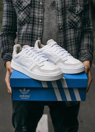 Adidas supercount white \grey мужские кроссовки адидас белые 4...