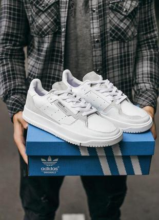 "Adidas brand with the 3 stripes ""white\grey"" кроссовки адидас ..."