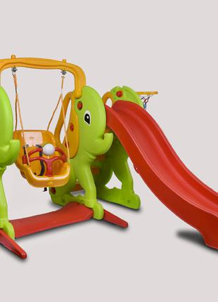 Детская горка Elephant slide and swing set 06-161