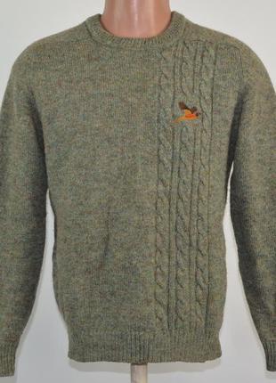 Шерстяной охотничий свитер antartex (s) шотландия.