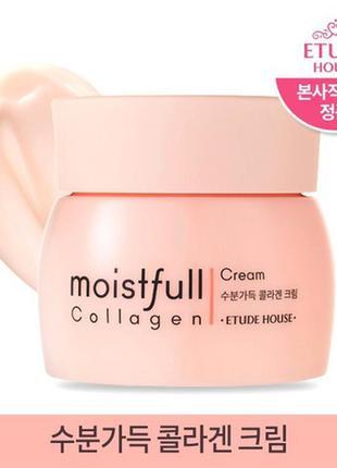 Крем для лица коллагеновый etude house moistfull collagen crea...