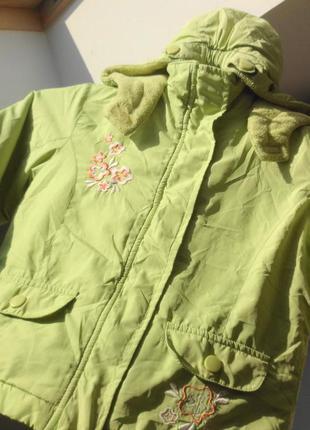 Papagino. нежнейшая салатовая куртка на флисе весенняя. 80 раз...