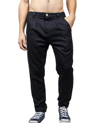 Брендовые мужские темно-синие твидовые брюки anerkjendt бангла...