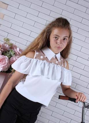 Блузка школьная на девочку рост 134