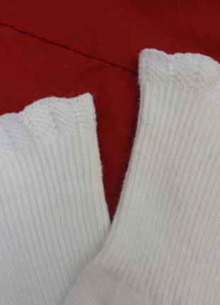 Носочки белые с рюшиками и стопами на 7,5 - 11,5 месяцев
