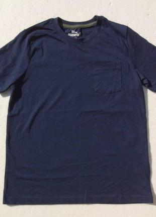 Pepperts. футболка синяя с кармашком, хлопок.