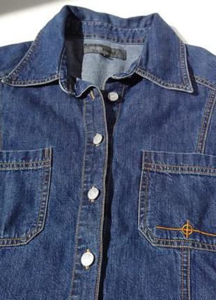 Джинсовая рубашка с коротким рукавом из норвегии.
