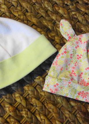 H&m шапочки для малыша 2 штучки.
