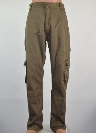 Брюки george men's khaki cargo pants (l)