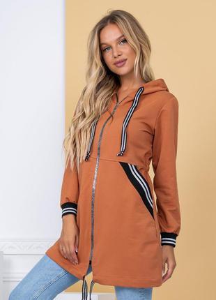 Кардиган женский на замочке оранжевый 🧡 в наличии разные цвета
