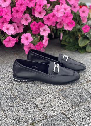 Очень крутые черные лоферы, туфли, балетки