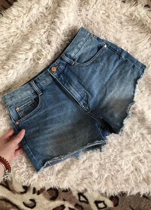 Шорты джинсовые высокая посадка