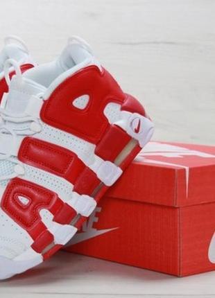 🔥sale🔥   мужские кроссовки найк nike air uptempo white red.