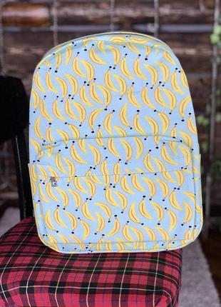 Рюкзак синий с бананами унисекс
