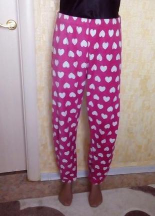 Плюшевые штаны в сердечки/штаны/пижама/кигуруми/брюки/халат/но...