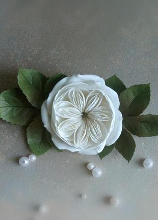 Шикарная заколка для волосс свадебное украшение с цветами зако...