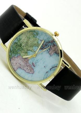 Женские наручные часы Карта Мира (разные цвета)