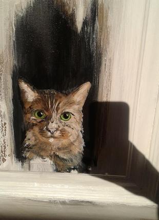 картина маслом в 3Д кот
