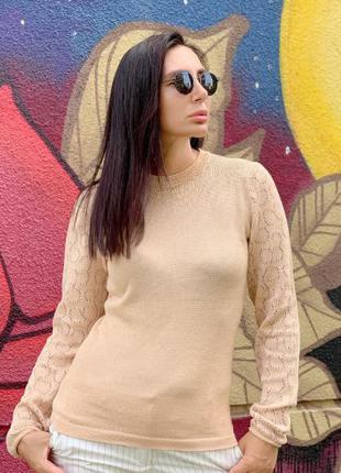 Пуловер женский из хлопка