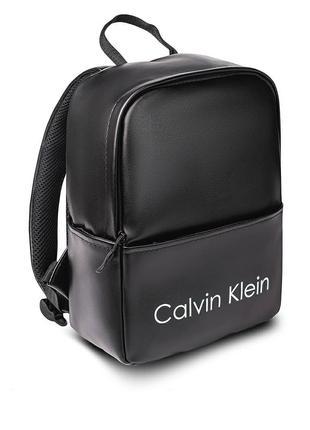 Женский черный Рюкзак Calvin Klein кожзам