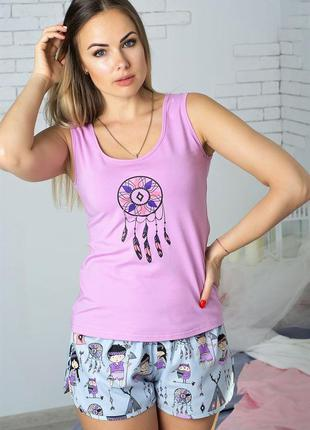 Пижама женская хлопковая в подарочной упаковке