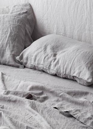 Постільна білизна 100% льон льняна постельное белье лен льняное