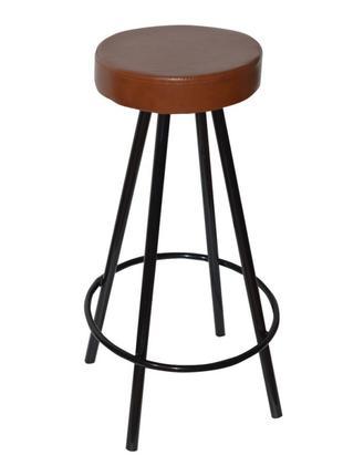 Стул барный высокий Диана, металл, цвет коричневый