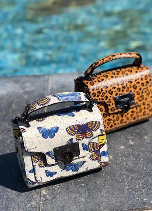 Женские кожаные сумки разноцветные на цепочке клатчи borse in ...