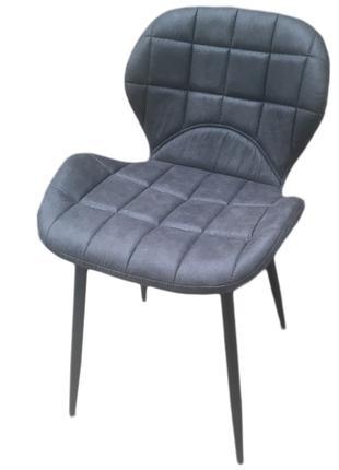 Мягкий стул ДАЙМ, серый, экокожа