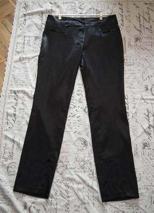 Идеальные черные атласные брюки,низкая посадка