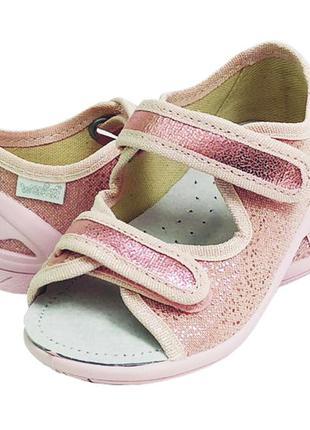Тапочки капчики босоножки босоніжки для девочки дівчини  waldi...