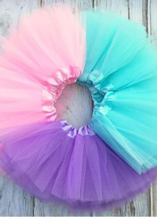 Пышная фатиновая юбка пачка шестислойная, 17цветов