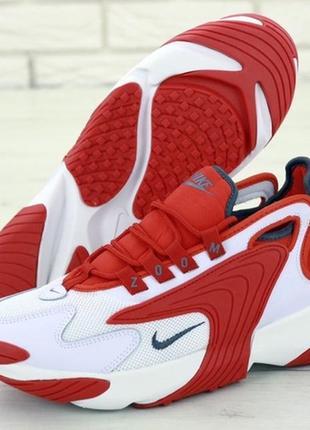 Мужские шикарные кроссовки найк nike zoom 2k red white.