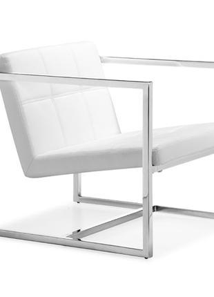 Кресло мягкое НОРТОН, белый, черный