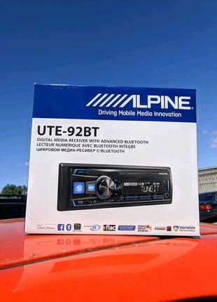 Магнитола Alpine UTE 92BT (процессорная 3 пары линеек)