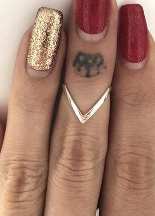 Кольцо серебро 925 пробы молния 1356