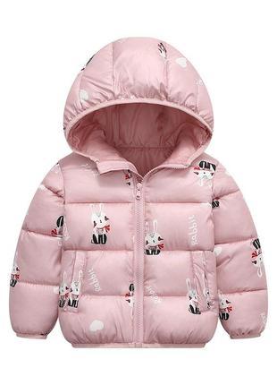 Демисезонная куртка пуховик девочке
