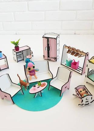Мебель в кукольный домик. Развивающие игрушки. Кукольный домик.