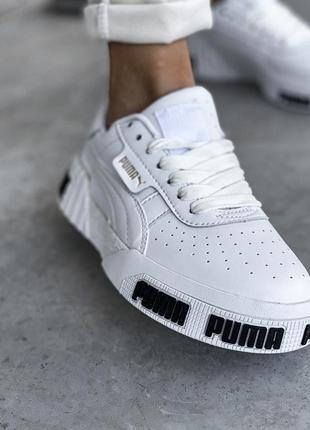 Puma cali white шикарные женские кроссовки пума кали белые