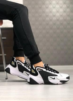 Черно-белые кроссовки унисекс nike zoom 2k