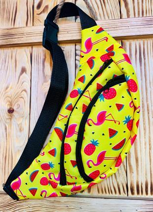 Бананка много расцветок сумка на пояс
